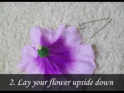 SUPER EASY DIY Flower Hair Clip Tutorial