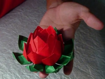 The Art of Paper Folding - How to Make an Origami Lotus Flower