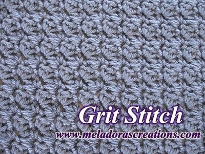 The Grit Stitch - Left Handed Crochet Tutorial