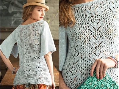 #18 Butterfly Sleeve Top, Vogue Knitting Spring.Summer 2013