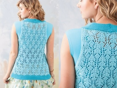 #27 Buttined Lace Vest, Vogue Knitting Spring.Summer 2011