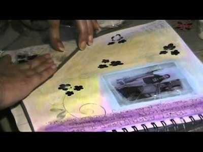 Art journaling with a touch of scrapbooking By Maryann 4rm Zero !