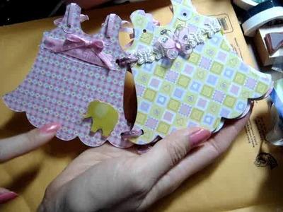 Baby Girl Dress Mini Scrapbook Album & Quick Thoughts on the Precision Tip Glue Gun