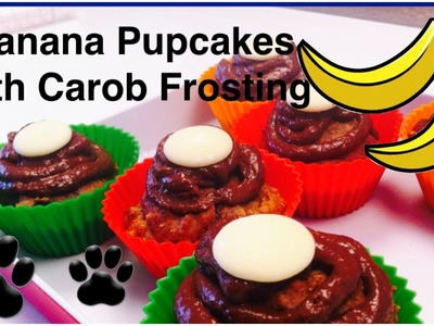 BANANA DOG PUPCAKES - DIY Dog Food - a tutorial by Cooking For Dogs