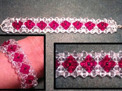 Beading4perfectionists : 6mm Swarovski bracelet tutorial