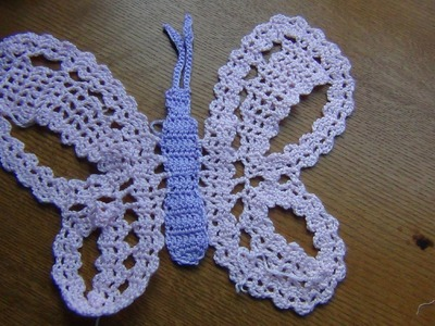 Crochet Butterfly in Bruges Lace Part 3