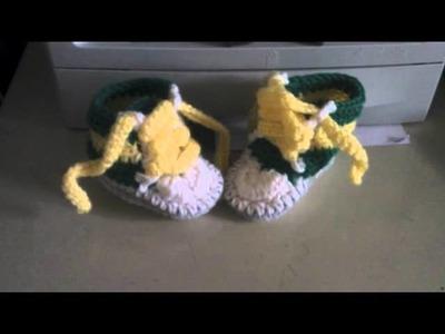 Crochet HighTop Baby Booties