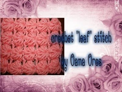 Crochet the leaf stitch