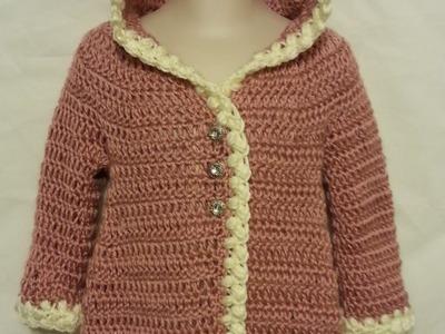 #Crochet THIS ADORABLE #BABY #OVERCOAT Jacket #tutorial #diy