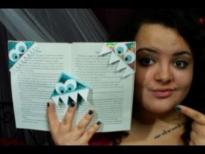 DIY: Bookmark Monsters ♡ Theeasydiy #Crafty