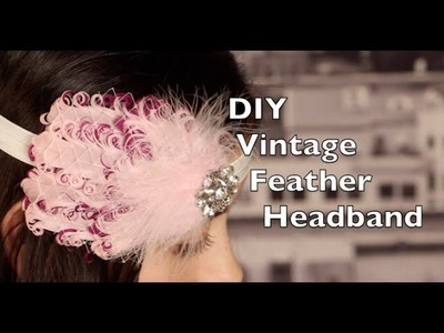 DIY Feather Headband | Vintage Headband with Russian Netting Tutorial