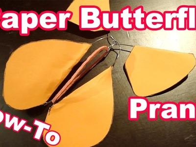 DIY Flying Paper Butterfly Prank