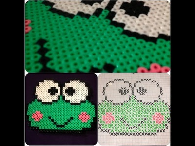 DIY: Frog (Melting Bead Pattern) ♡ Theeasydiy #Crafty