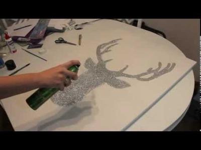 DIY Glitter Deer Apartment Decor