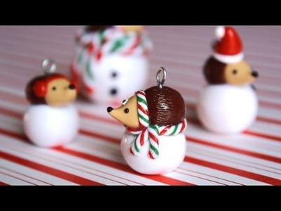 DIY: Hedgehog Snowball. Polymer Clay Charm Tutorial