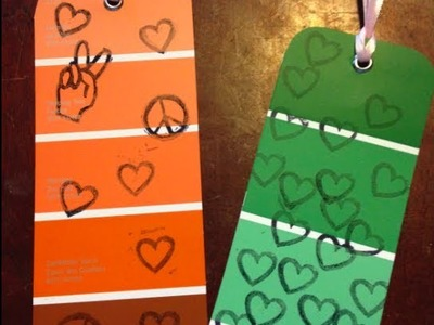DIY: Paint Chip Bookmarks ♡ Theeasydiy #Crafty