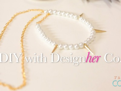 DIY Pearl and Spiked Necklace Tutorial!