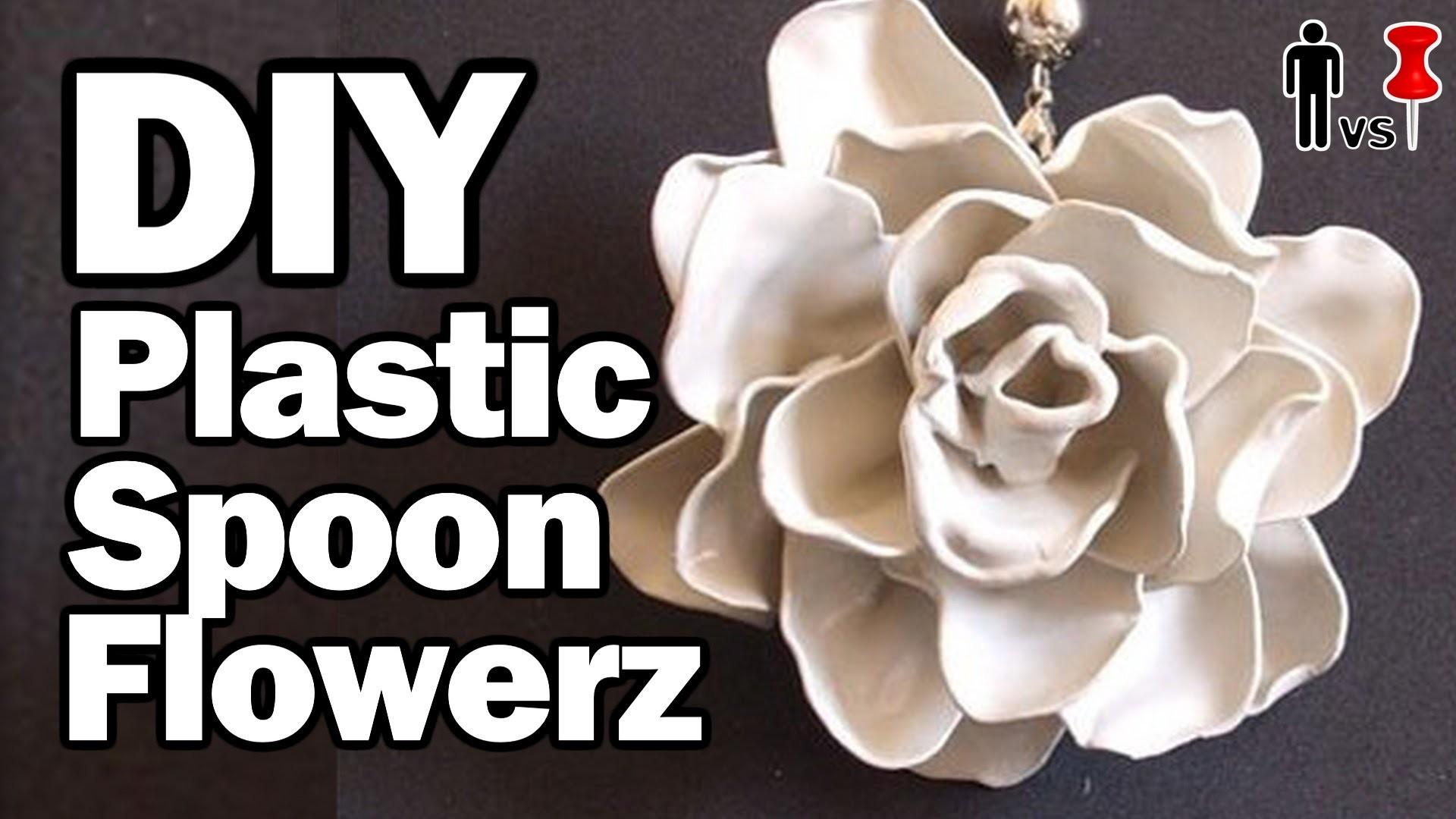 DIY Plastic Spoon Flowers - Man Vs. Pin #38