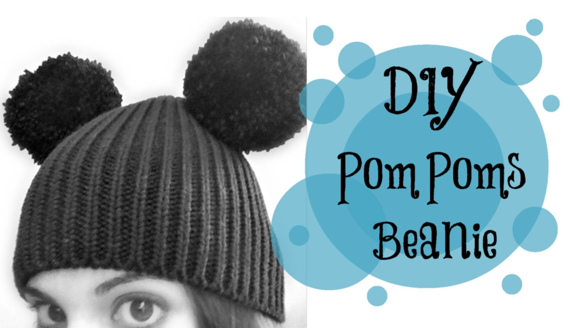 DIY: POMPOMS. Mickey Mouse hat! (quick and easy! ^^)