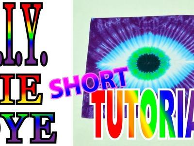 DIY Tie Dye Eye on a Bandana [Short Tutorial]
