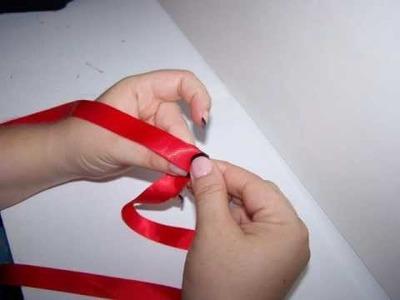 Easy Folded Ribbon Rose
