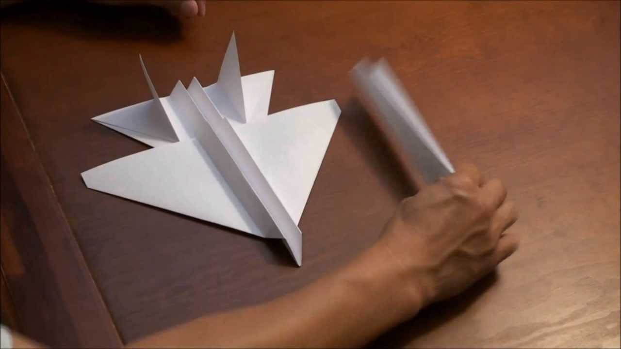 F15 Stealth Eagle How To Fold by Evolution Paper Jets