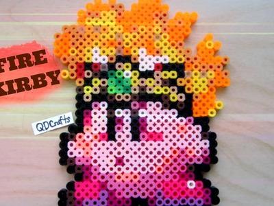 Fire Kirby Perler Bead Sprite