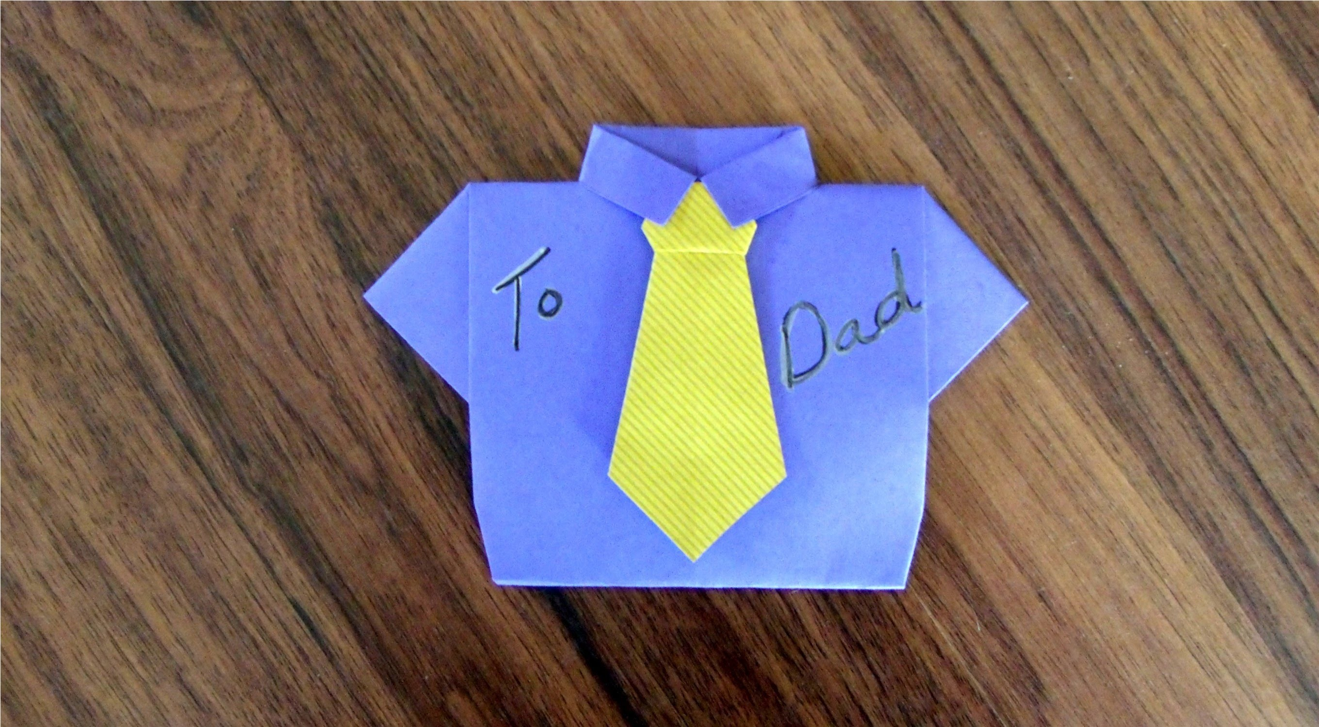 Fold a Father's Day card (or birthday or Missionary card), Part 2 - the tie, origami