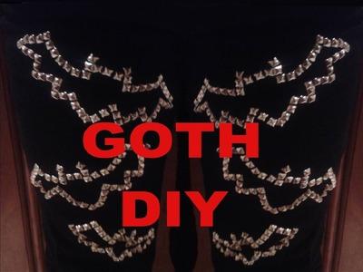 Goth DIY: Bat Studded Pants Tutorial