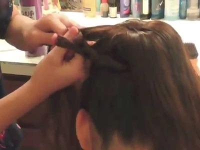 How to do a dutch lace braid bun