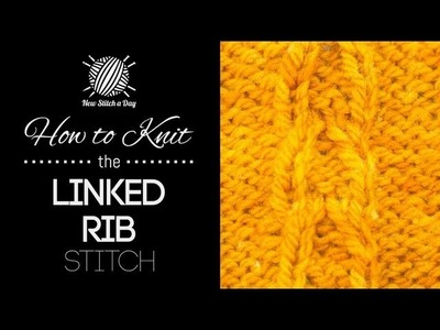 How to Knit the Linked Rib Stitch