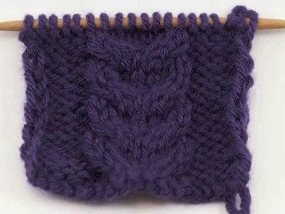 How to Knit the Stacked Cable Stitch