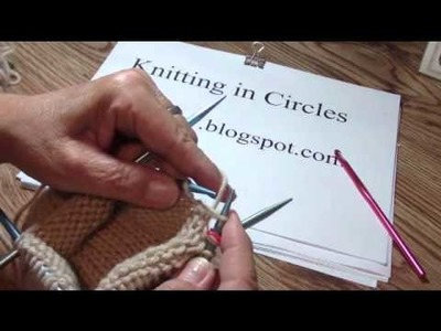 How to Knit: W&T or short rows in the round