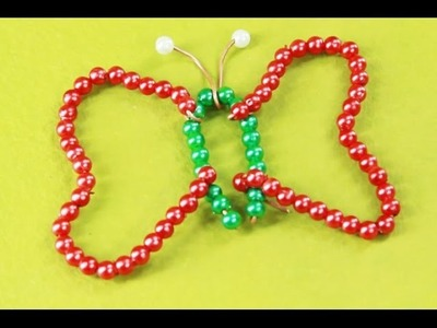 How to make a Beads Butterfly - art and craft