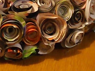 How to make a Rolled Paper Wreath