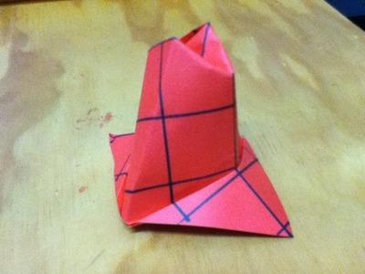 How to Make an Origami Hat - Deer Stalker. Deer Hunter Paper Cap - Step by Step Instructions - DIY