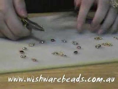 Link Bracelet with Swarovski @Wishware Beading Classes