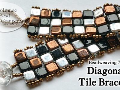 Make a Diagonal Tile Bracelet