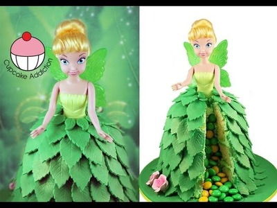 Make a TINKERBELL Fairy Princess SURPRISE PINATA Cake! A Cupcake Addiction How To Tutorial