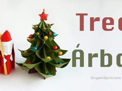 Origami Christmas Tree :: Árbol de Navidad