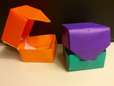 "Origami ""Hinged"" Box with Lid - Fun and Easy for Kids"