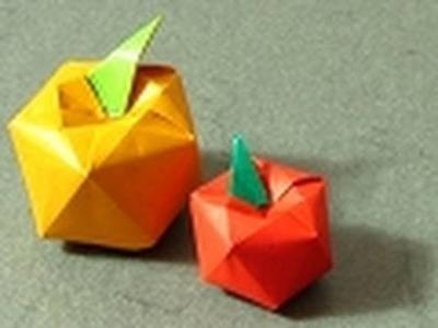 Origami Instructions: Apple (Shuzo Fujimoto)