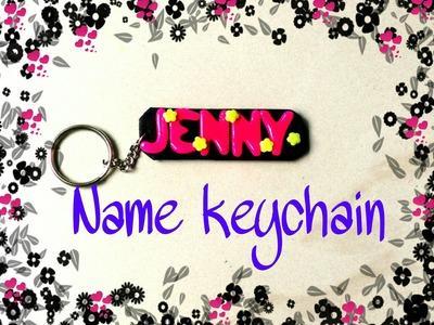 Polymer clay tutorial-Name keychain charm(DIY)