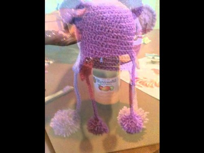 Response:Crochet Cap with Bear Ears- Ear Flaps - Toddler Size