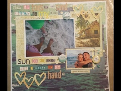 Scrapbook Process 63: Toes in the Sand