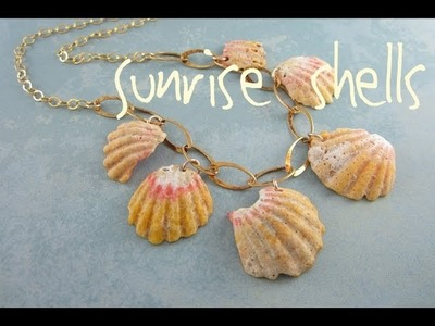 Simple Sunrise Shell Necklace at The Bead Gallery, Honolulu