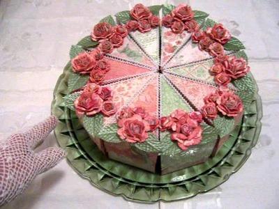 Studio Emmy HAPPY BIRTHDAY DIVAS Challenge Handcrafted Paper Craft Cake
