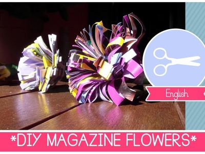 Summer Home Decor: DIY MAGAZINE FLOWERS - How to recycle magazines