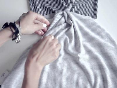 The 2 minutes DIY twist dress - Ari's quick fix series