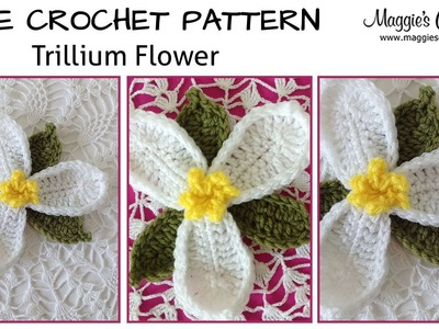 Trillium Free Crochet Pattern - Right Handed
